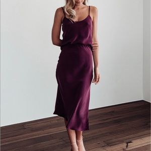 Purple Silk Skirt Set